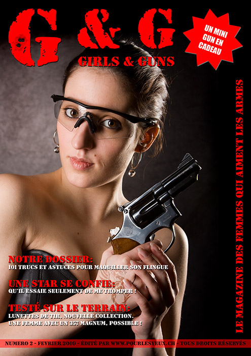 annuaire photographes suisse romande, Pastiche. Faux journal sur un thème girls and guns - www.pourlesyeux.ch - Pourlesyeux de Genève