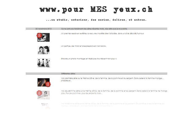 www.pourmesyeux.ch par Pourlesyeux de www.pourlesyeux.ch